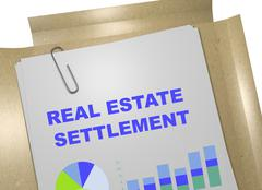 Real Estate Settlement concept Stock Illustration
