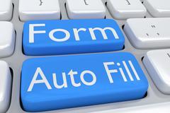 Form Auto Fill concept Stock Illustration