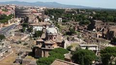 Panoramic Roman Forum Stock Footage