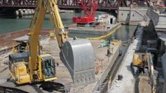 Construction crane clip Stock Footage