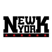 T shirt typography New York stars Stock Illustration