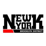 T shirt typography New York Brooklyn district Stock Illustration