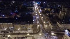 Muraviova-Amurkogo street aero Khabarovsk Stock Footage
