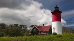 Nauset Light Lighthouse Stock Footage