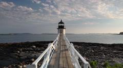 Marshall Point Light Stock Footage