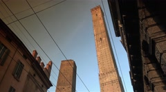 Bologna, Via Rizzoli street, near the two towers, ULTRA HD 4k, real time Stock Footage