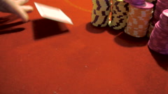 Poker chips and aces Stock Footage