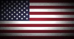 American Flag Vignette Stock Illustration