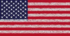 American Flag Smudged Stock Illustration
