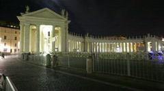 San Pietro square Rome Stock Footage