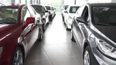 Buyer and car seller make deal Stock Footage