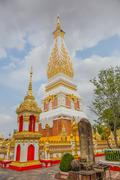 Nakhon Phanom, Thailand - May 28,2016: Wat Phra That Phanom is the sacred are Stock Photos