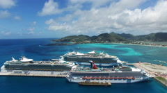 Aerial view of cruises Stock Footage