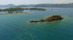 Yassica Island Gocek Turkey Stock Footage