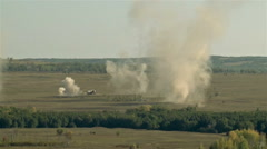 Huge explosion on the battlefield Stock Footage