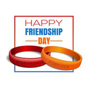 Friendship Day greeting card - stock illustration