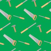 Tools for carpentry seamless pattern Stock Illustration