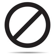 Ban symbol template - stock illustration