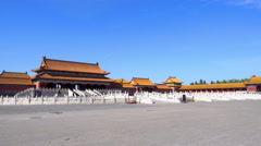 Gate of Supreme Harmony of the Forbidden City Stock Footage