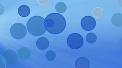 Blue circles abstract motion background Stock Footage