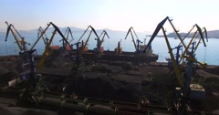 Coal loading. Town of Nakhodka, the Far East of Russia. Stock Footage