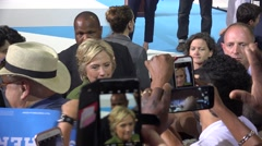 Hillary Clinton Greets And Takes Selfies With Supporters At Rally 05 Stock Footage