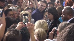 Hillary Clinton Greets And Takes Selfies With Supporters At Rally 06 Stock Footage