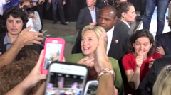 Hillary Clinton Greets And Takes Selfies With Supporters At Rally 08 Stock Footage