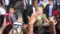 Hillary Clinton Greets And Takes Selfies With Supporters At Rally 09 - stock footage