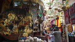 Traditional Uygur stalls in Xinjiang International Grand Bazaar Stock Footage