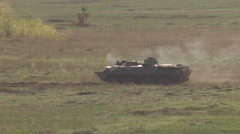 Extra Wild Shot Military Tank firing, concept of war and conflict. Stock Footage