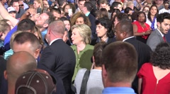 Hillary Clinton Greets And Takes Selfies With Supporters At Rally 10 - stock footage