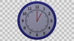 Animation of timelapse of clock. 3D rendering. Stock Footage