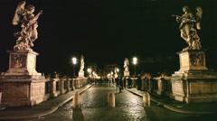 Castel Sant Angelo night Stock Footage