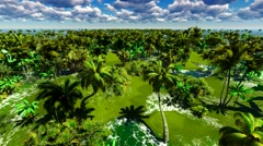 Tropical jungle animation - stock footage