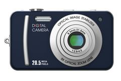 Compact digital camera Stock Illustration