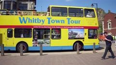 Whitby tour bus Stock Footage