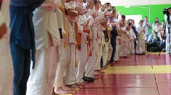 Children Martial arts. School of judo - stock footage