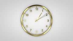 Clock Time Lapse. Gold watches make a complete circle. Stock Footage
