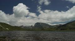 Mountain Lake Clouds Timelapse 4K Stock Footage