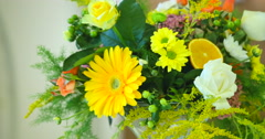Spring yellow bouquet of flowers Stock Footage
