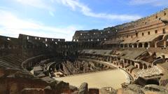 Rome coliseum interior Stock Footage