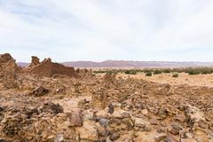 Ruins of the ancient city in the Sahara desert Stock Photos