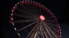 Big Ferris Wheel in the Night Sky Arkistovideo