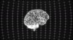 Glitch develops in a digital computer brain Stock Footage