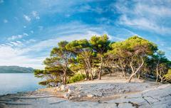 Beautiful Nature Of Calanques On The Azure Coast Of France Stock Photos