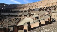 Interior panorama of Coliseum Stock Footage