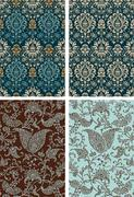 Set of baroque backgrounds Piirros