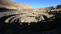 Interior of coliseum in Rome Stock Footage