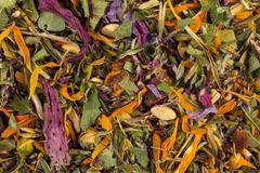 Dried herbal tea leaves Stock Photos
